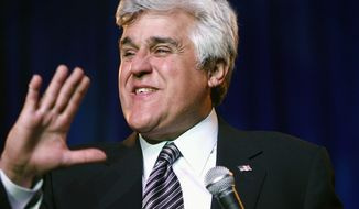 """Jay Leno says he is """"hopefully optimistic"""" as he moves to prime time. He will continue to do a nightly monologue. (Associated Press)"""