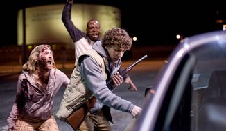"""Jesse Eisenberg battles zombies in the horror-action-comedy """"Zombieland."""""""