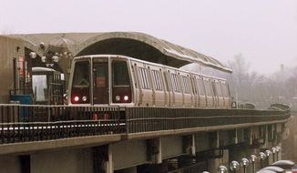 **FILE** A Metrorail train of the Washington Metropolitan Area Transit Authority (Associated Press)