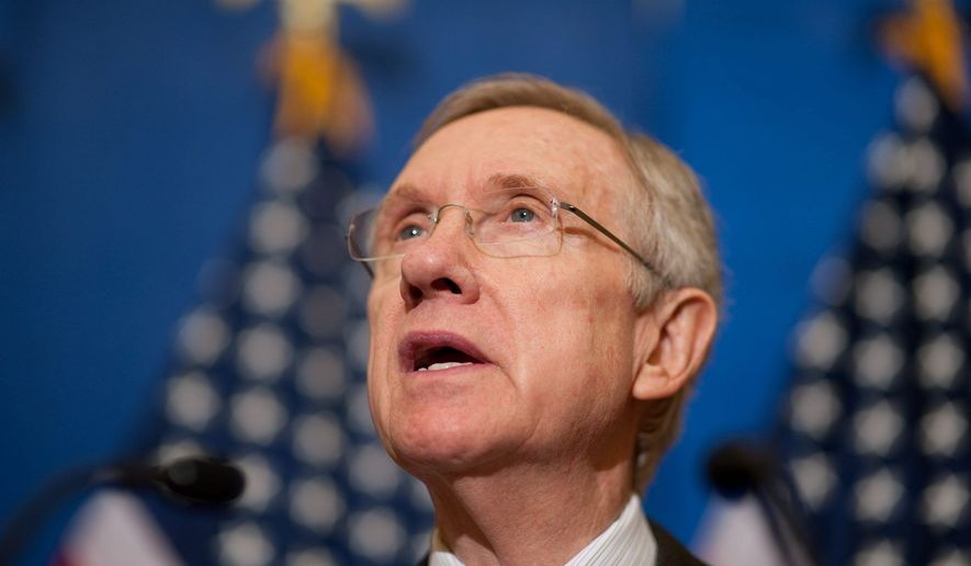**FILE** Senate Majority Leader Harry Reid, Nevada Democrat