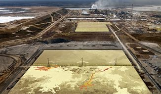 """""""Alberta Oil Sands #6,"""" taken at Fort McMurray, Alberta, in 2007, is from the part of the show that features places where oil is extracted, refined, distributed and consumed."""