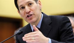** FILE ** Dr. Thomas R. Frieden of the Centers for Disease Control and Prevention testifies on Capitol Hill in this Nov. 4, 2009, file photo. (The Washington Times)