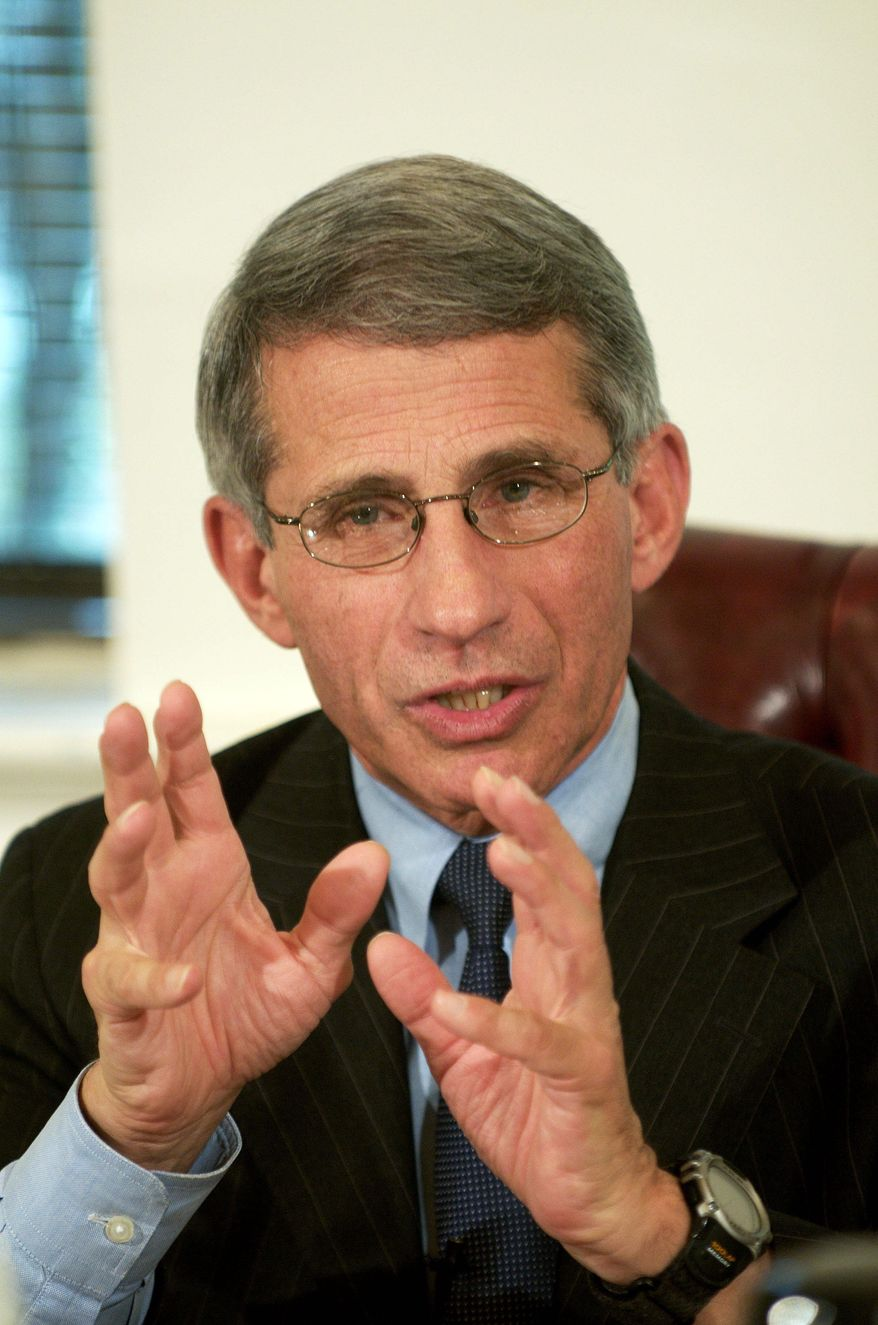 Dr. Anthony S. Fauci is director of the National Institute of Allergy and Infectious Diseases. (J.M. Eddins Jr./The Washington Times)