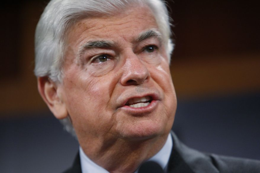 ** FILE ** Sen. Christopher J. Dodd, Connecticut Democrat, who is chairman of the Senate Banking Committee, announces a financial reform package on Tuesday, Nov. 10, 2009, during a news conference on Capitol Hill in Washington. (AP Photo/Charles Dharapak)