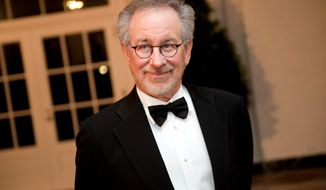 Michael Connor/The Washington Times Director Steven Spielberg was one of the Hollywood A-listers - along with actors and producers - on the guest list. This was the first state dinner hosted by the Obama administration.