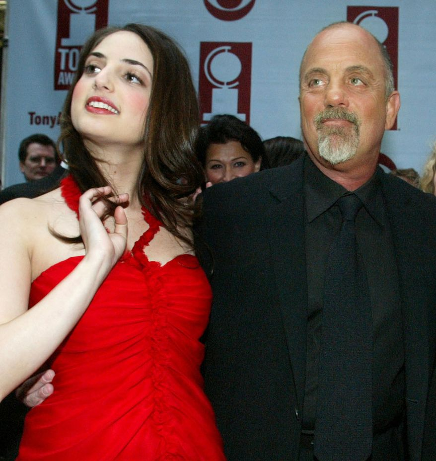 **FILE** In this June 6, 2004, file photo, pianist, singer and songwriter Alexa Ray Joel (left) joins her father Billy Joel for the arrivals of the 58th Annual Tony Awards at Radio City Music Hall, in New York. (Associated Press)