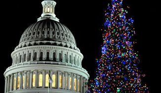 The Capitol Christmas tree in 2009. (Peter Lockley / The Washington Times)