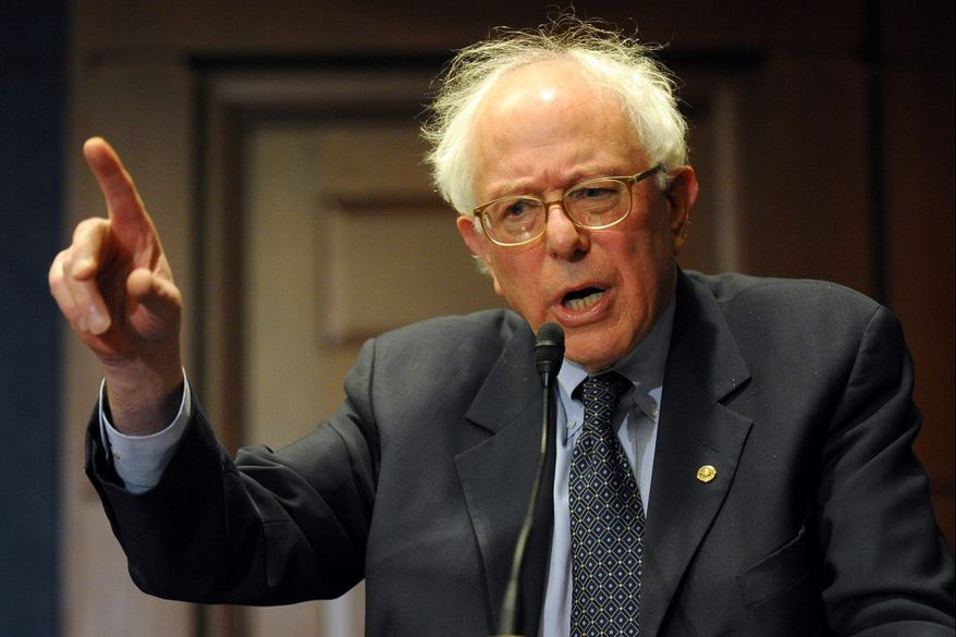 Sen. Bernie Sanders, Vermont independent, tells reporters that without the public option, the health care bill may have been too weakened to get his support but that he is working with Democratic leaders on a compromise.