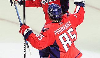 The Washington Capitals shipped right wing Eric Fehr to the Winnipeg Jets for a 2012 fourth-round pick and prospect Danick Paquette. (Joseph Silverman / The Washington Times)