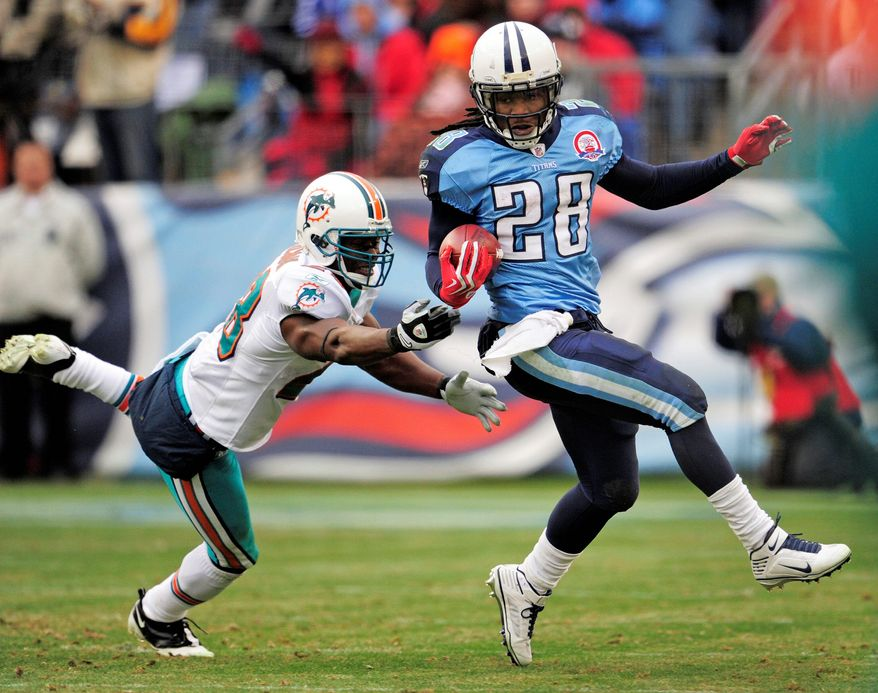 ASSOCIATED PRESS FILE Titans running back Chris Johnson.