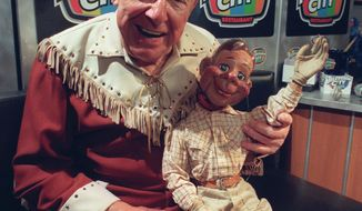 "** FILE ** ""The Howdy Doody Show"" with the late Buffalo Bob Smith and Howdy Doody. (Associated Press)"