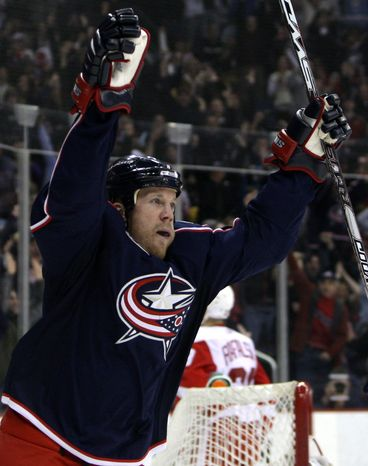 **FILE** Washington Capitals forward Jason Chimera knows all about the rigors of Western Conference travel from his time with the Columbus Blue Jackets. (Associated Press)