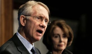 Harry Reid and Nancy Pelosi  (Associated Press)