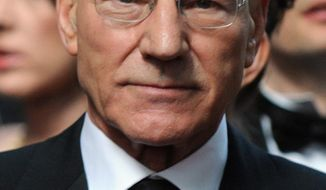 "** FILE ** Actor Patrick Stewart receives a knighthood on Queen Elizabeth II's New Year honors list. Mr. Stewart is best known for his performances in ""Star Trek: The Next Generation."" (Associated Press)"