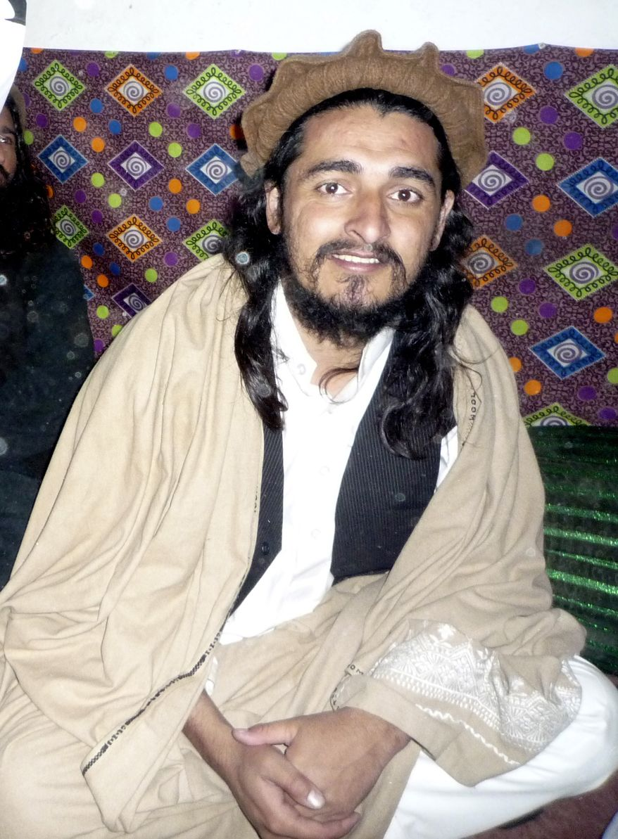 ** FILE ** In this Nov. 26, 2008, file photo, Pakistani Taliban leader Hakimullah Mehsud is seen in Orakzai tribal region of Pakistan. The Pakistani army says it is investigating reports that Mehsud has died from injuries sustained in a U.S. drone missile strike. Pakistani army spokesman Gen. Athar Abbas says the army is using its agents in Pakistan's northwest where the death is reported to have occurred to try to confirm or deny the reports. (AP Photo/Ishtiaq Mehsud, File)