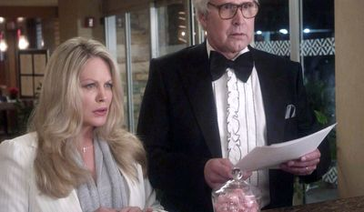 "ASSOCIATED PRESS In this image provided by HomeAway, Beverly D'Angelo, left, as Ellen Griswold, and Chevy Chase, as Clark Griswold, appear in an ad for vacation-rental Web site HomeAway. The ad for the 5-year-old company featuring the quirky traveling family from the movie ""National Lampoon's Vacation"" is scheduled to run during this year's Super Bowl."