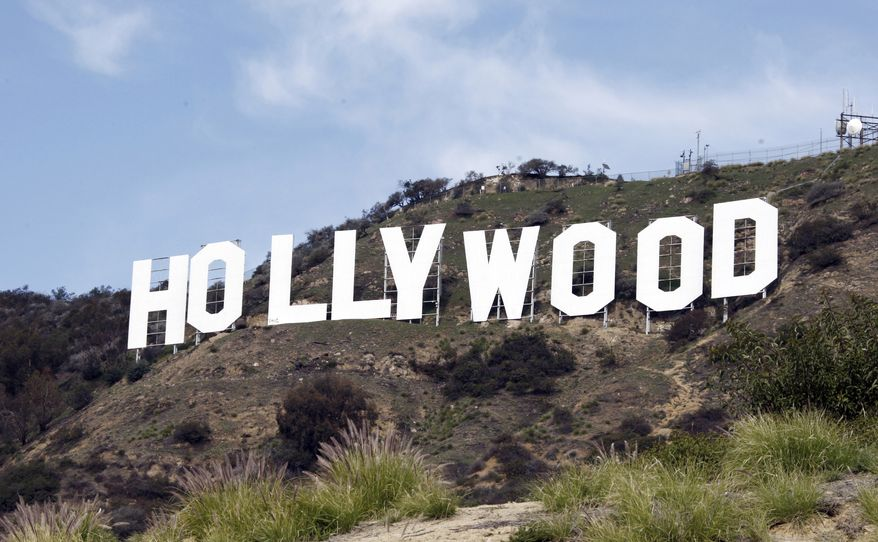 The Hollywood sign is seen from near the top of Beachwood Canyon, adjacent to Griffith Park in the Hollywood Hills of Los Angeles, on Friday, Jan. 29, 2010. (AP Photo/Reed Saxon)