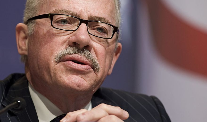"""** FILE ** Former Georgia Rep. Bob Barr takes part in a debate titled """"Does Security Trump Freedom?"""" Friday, Feb. 19, 2010, during the Conservative Political Action Conference (CPAC) in Washington. (AP Photo/Cliff Owen)"""