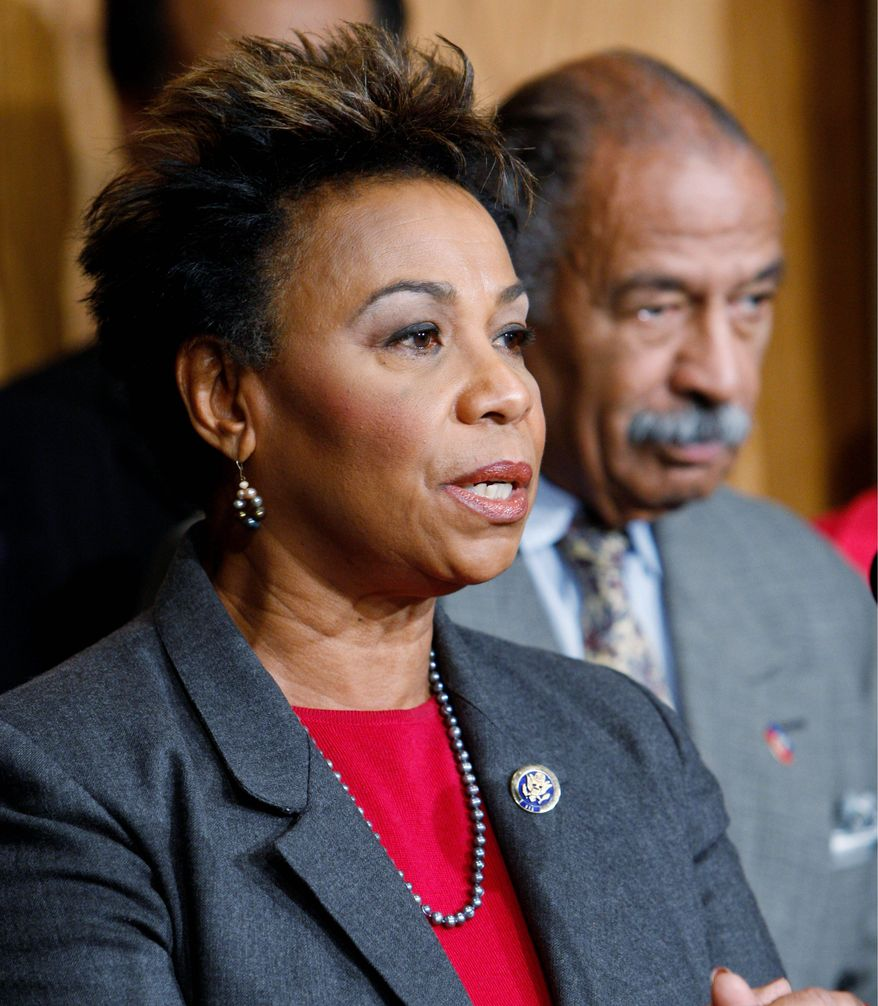"""Rep. Barbara Lee, California Democrat, disputed dubbing the measure a """"jobs bill,"""" and said the money should instead be used for job training and summer jobs. March 4, 2010. (Associated Press) File"""
