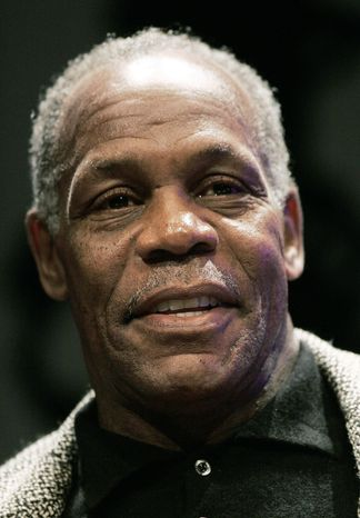 ** FILE ** In this Jan. 9, 2008, file photo, actor Danny Glover takes part in a panel discussion at Emerson College in Boston. (AP Photo/Michael Dwyer, File)