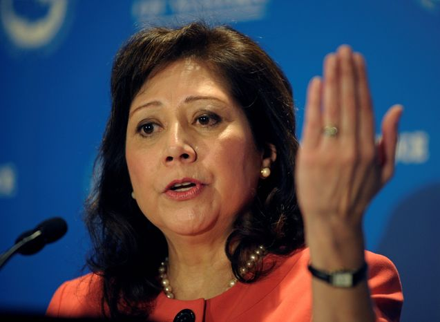 """Associated Press Labor Secretary Hilda L. Solis recently told lawmakers that her department did not want to """"overburden"""" the system by asking labor unions for information that """"may not be of much importance or significance."""""""