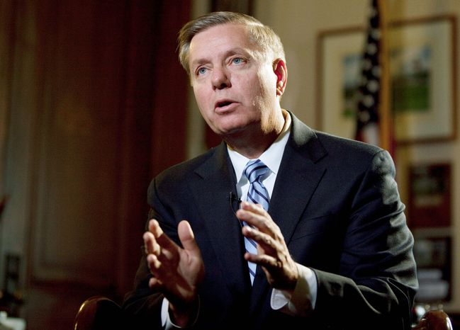** FILE ** Sen. Lindsey Graham, South Carolina Republican. (Associated Press)