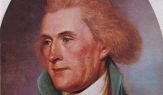 This is a portrait of the third President of the United States Thomas Jefferson painted by Charles Willson Peale. The bicentennial commemoration of the expedition of Captains Meriwether Lewis and William Clark will officially kick off Jan. 18, 2003 at Jefferson's home, Monticello. (AP Photo)