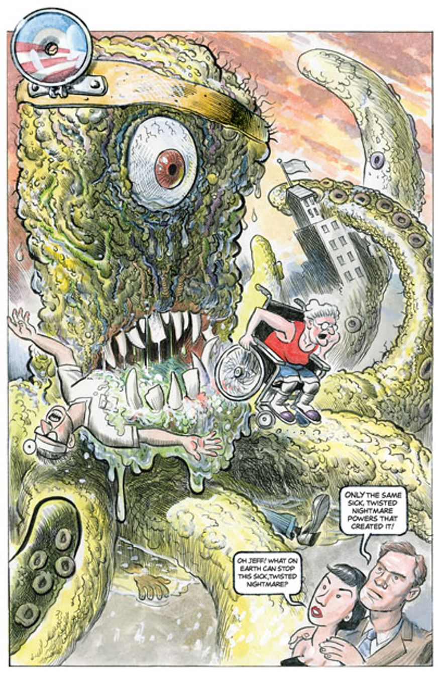The Health Monster by Alexander Hunter for The Washington Times