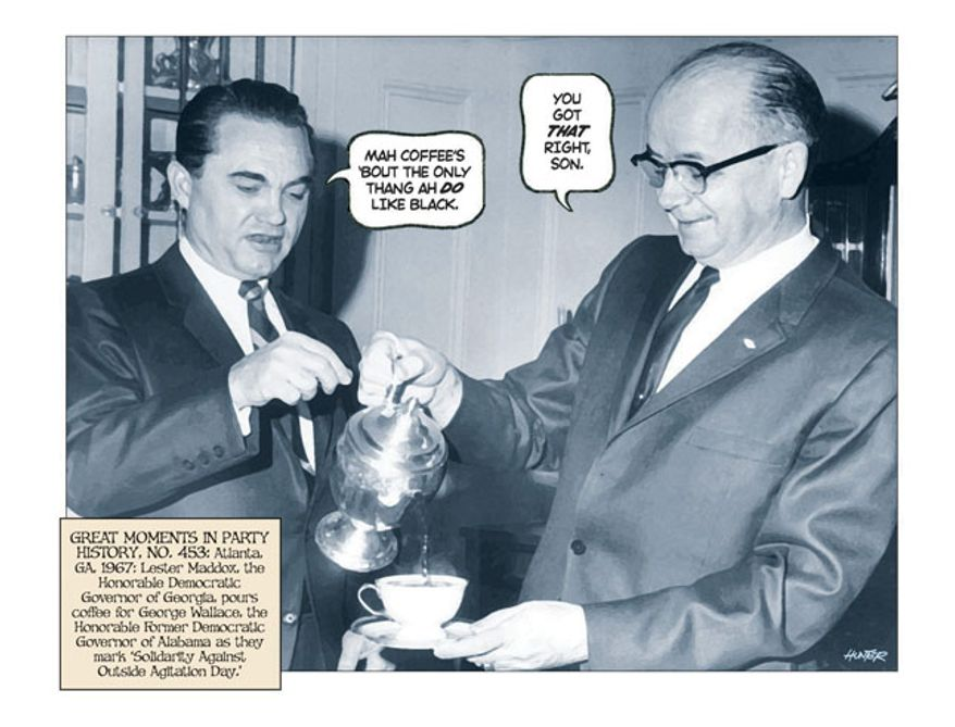 George Wallace Coffee by Alexander Hunter for The Washington Times