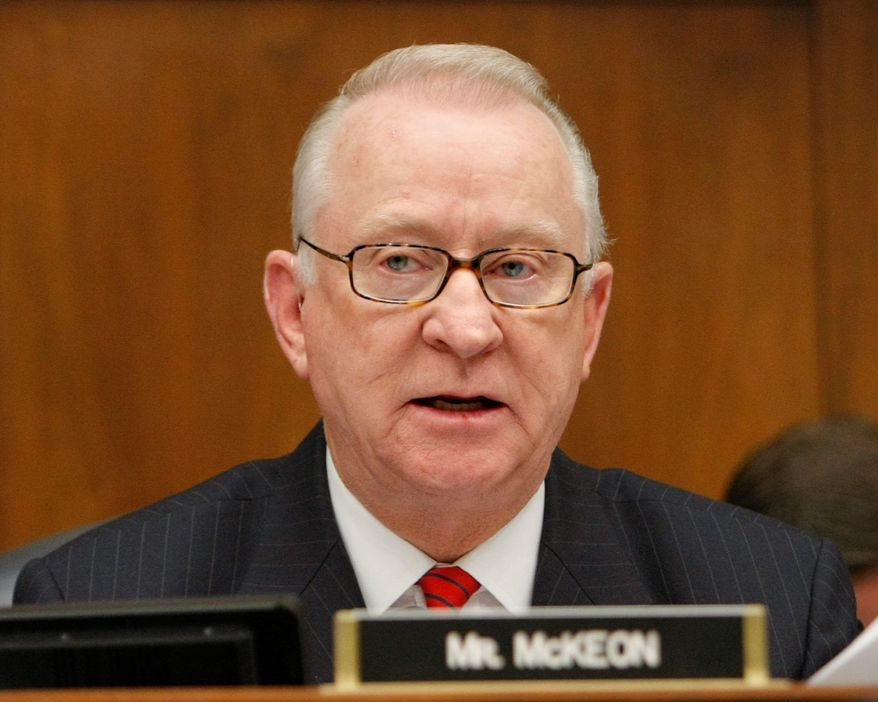 "**FILE** House Armed Services Committee member Howard P. ""Buck"" McKeon (Associated Press)"