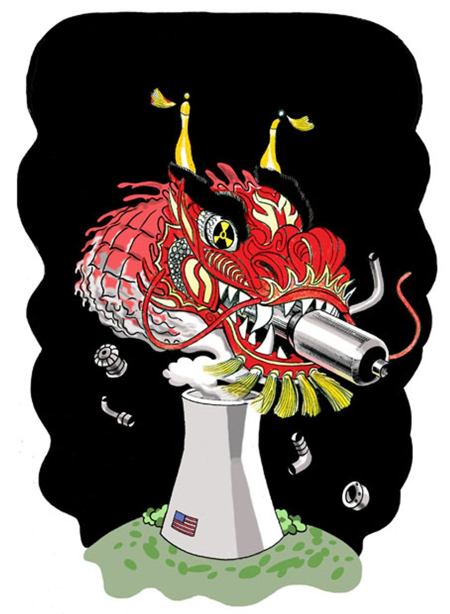 Chinese Nuclear Dragon by Alexander Hunter for The Washington Times