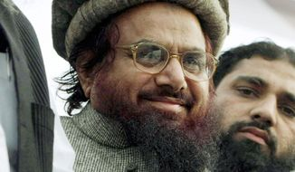 **FILE** Islamist cleric Hafiz Mohammad Saeed, founder of the terrorist group Lashkar-e-Taiba (Associated Press)