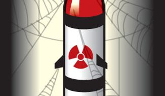 Illustration: Missile silo by Linas Garsys for The Washington Times