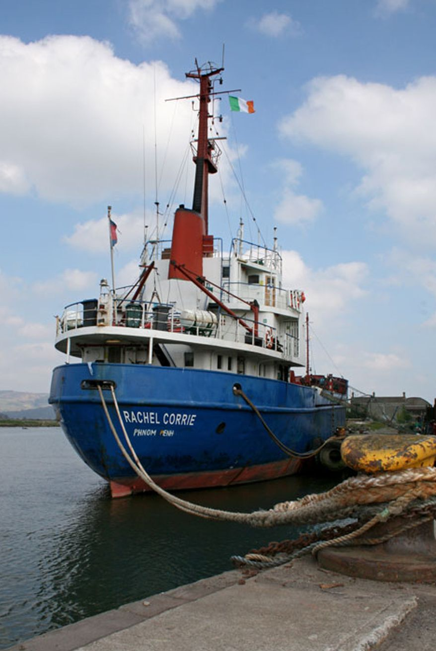 This undated photo provided by FreeGaza.org shows the Irish-flagged ship the MV Rachel Corrie. The ship was named after an American college student crushed to death by an Israeli Army bulldozer while protesting house demolitions in Gaza. Greta Berlin, a spokesman for the Free Gaza group, said Friday June 4, 2010 the 1,200-ton Rachel Corrie is heading directly to Gaza and will not stop in any port on the way. (AP Photo/FreeGaza.org)