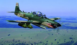 The Embraer EMB-314 Super Tucano is urgently needed in Afghanistan, the Pentagon's Joint Staff has been told. (Embraer Image Gallery)