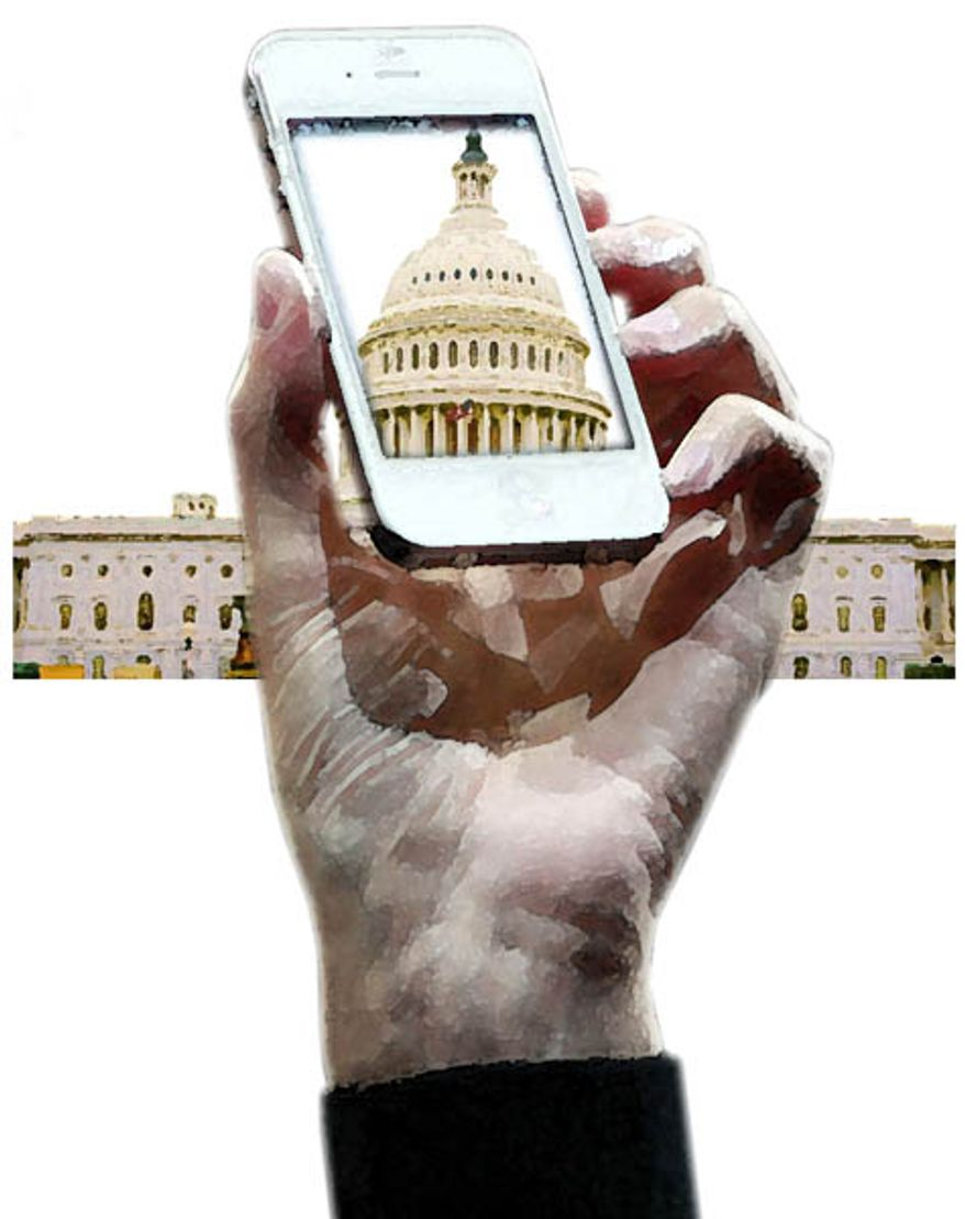 Illustration: Capitol iPhone by Greg Groesch for The Washington Times