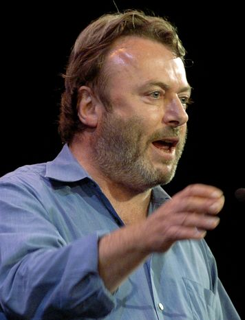 ** FILE ** In this Sept. 14, 2005 file photo, British essayist Christopher Hitchens speaks during a debate i