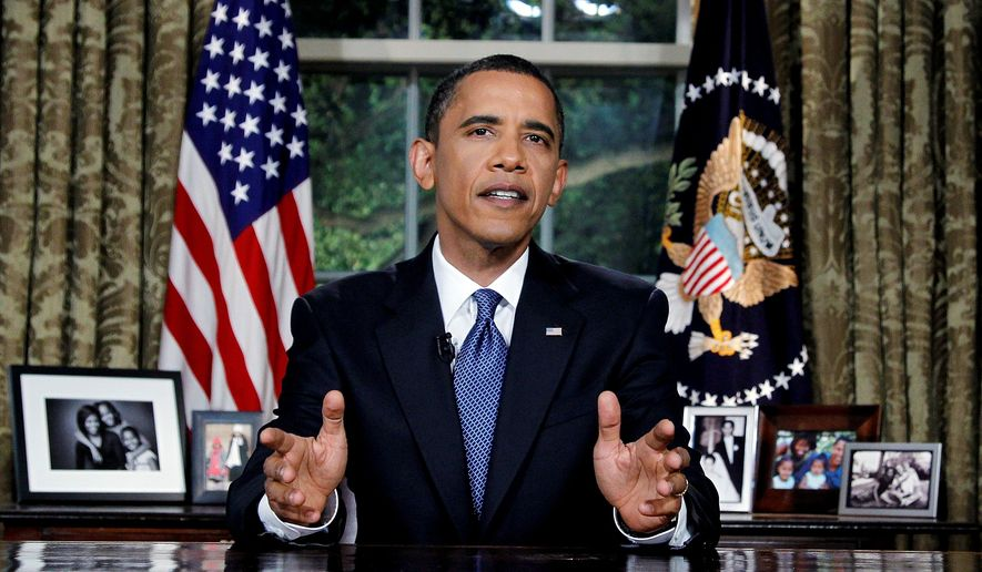 Associated Press RESOLUTE: President Obama addresses the nation from the Oval Office about steps he is taking to deal with the Gulf of Mexico oil spill. It marked his first address from that office. Earlier Tuesday, the president returned from his fourth trip to the Gulf Coast aimed at reassuring residents there.