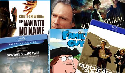 """Blu-ray and DVD choices for Dad include """"The Man With No Name"""" Trilogy: The Sergio Leone Collection from MGM Home Entertainment, """"Saving Private Ryan"""" from Paramount Home Entertainment, """"Butch Cassidy and the Sundance Kid"""" from 20th Century Fox Home Entertainment and Clint Eastwood Collection from Warner Home Video."""