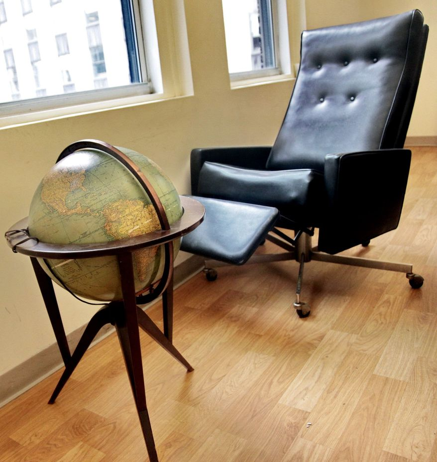 Steinbeck's globe and office recliner are among the items from his three-bedroom apartment on Manhattan's Upper East Side, where the Nobel laureate lived until his death in 1968.
