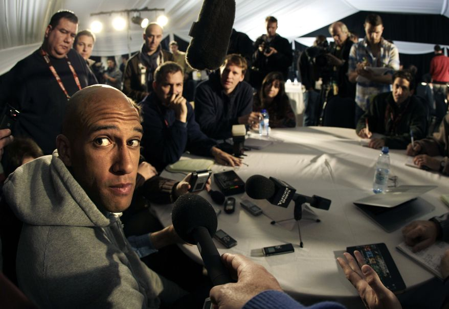ASSOCIATED PRESS U.S. national soccer goalkeper Tim Howard listens to a question during a news conference in Irene, South Africa Wednesday, June 16, 2010. The U.S. team is preparing for their upcoming World Cup Group C match against Slovenia on Friday.
