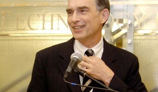 Rep. Peter J. Visclosky, Indiana Democrat, speaks in Merrillville, Ind., in January 2005. A federal grand jury has subpoenaed records of Mr. Visclosky in a criminal probe involving a top lobbying firm that specialized in funneling federal contracts to defense firms. (Associated Press)
