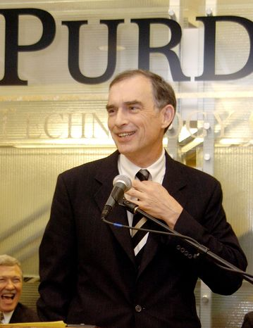 Rep. Peter J. Visclosky, Indiana Democrat, speaks in Merrillville, Ind., in January 2005. A federal grand jury has subpoenaed records of Mr. Visclosky in a criminal prob