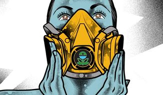 Illustration: EPA by Linas Garsys for The Washington Times