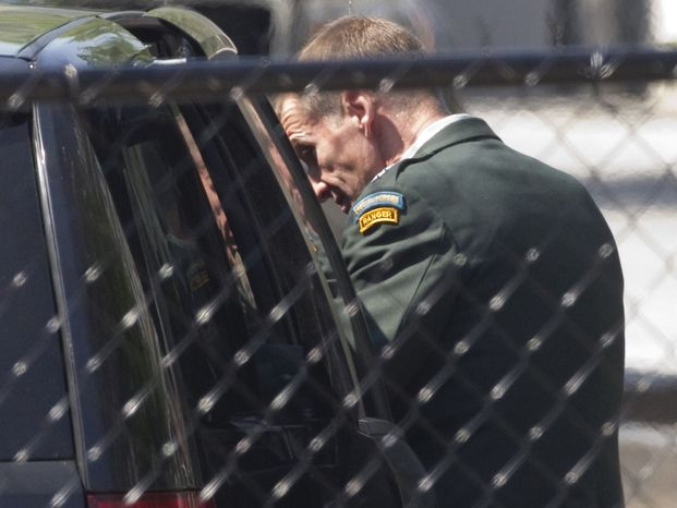 Gen. Stanley A. McChrystal leaves the White House in Washington on Wednesday, June 23, 2010, after meeting with President Obama. (AP Photo/Evan Vucci)