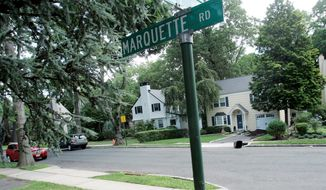 The neighborhood of Marquette Road in Montclair, N.J., is where Richard and Cynthia Murphy were arrested by the FBI on Sunday. Eight others alleged to be spying for Russia were arrested at other locations. (Associated Press)