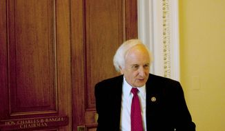 **FILE** The acting Chairman of the House Ways and Means Committee Rep. Sander Levin, D-Mich., leaves the committee office on Capitol Hill on March 4, 2010. (Associated Press)