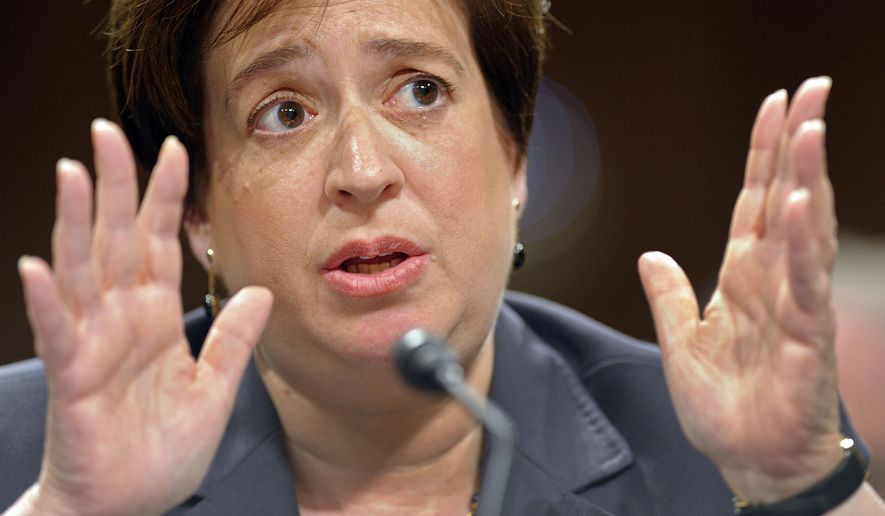 Supreme Court nominee Elena Kagan testifies Tuesday on Capitol Hill before the Senate Judiciary Committee hearing on her nomination. (Associated Press)