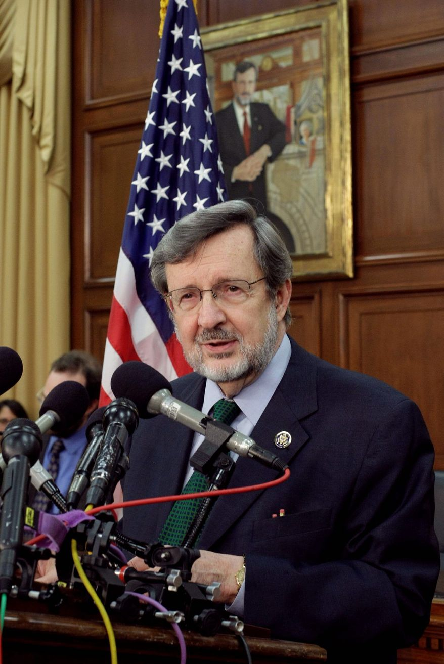 Rep. David Obey, D-Wis., a leading liberal Democrat and chairman of the powerful House Appropriations Committee, announces on Capitol Hill in Washington, Wednesday, May 5, 2010, that he intends to retire at the end of his term this yea. (AP Photo/J. Scott Applewhite)