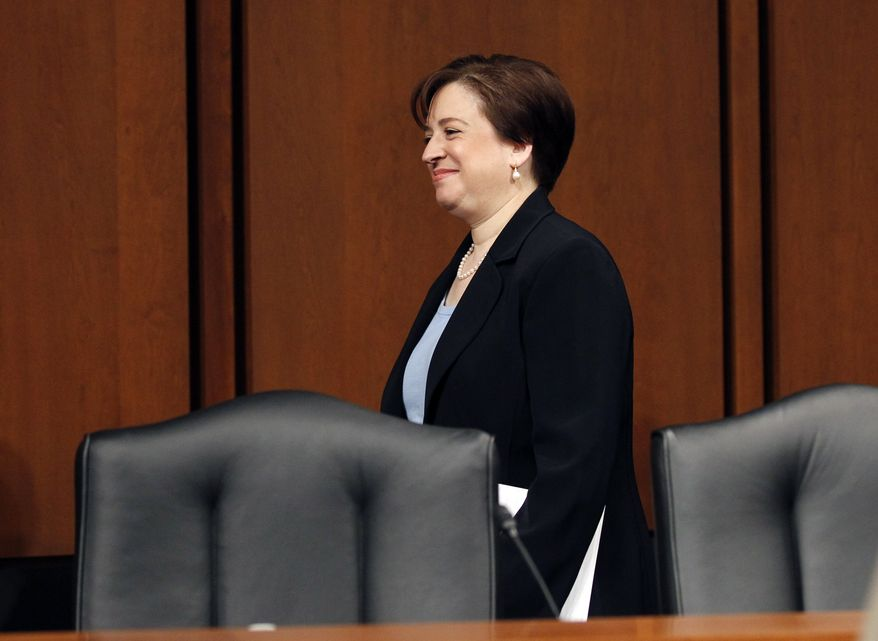 Supreme Court nominee Elena Kagan arrives on Capitol Hill in Washington, Wednesday, June 30, 2010, to continuing her testimony before the Senate Judiciary Committee. (AP Photo/Alex Brandon)